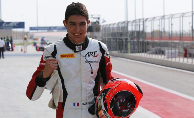 2015 GP3 Series Round 8. Bahrain International Circuit, Bahrain Thursday 19 November 2015. Esteban Ocon (FRA, ART Grand Prix)  Photo: Sam Bloxham/GP3 Series Media Service. ref: Digital Image _SBL3331