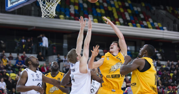 The London Lions beat the Newcastle Eagles 96-82 in a British Basketball League (BBL) match.